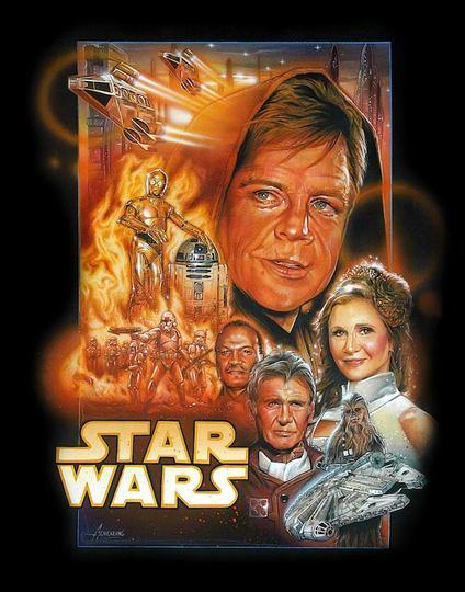スター・ウォーズのオリジナルキャストを現在の年齢で描いたポスター