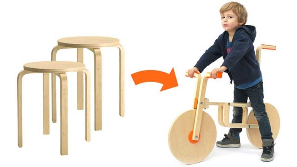 IKEAハック! 1000円のスツールで自転車を作る