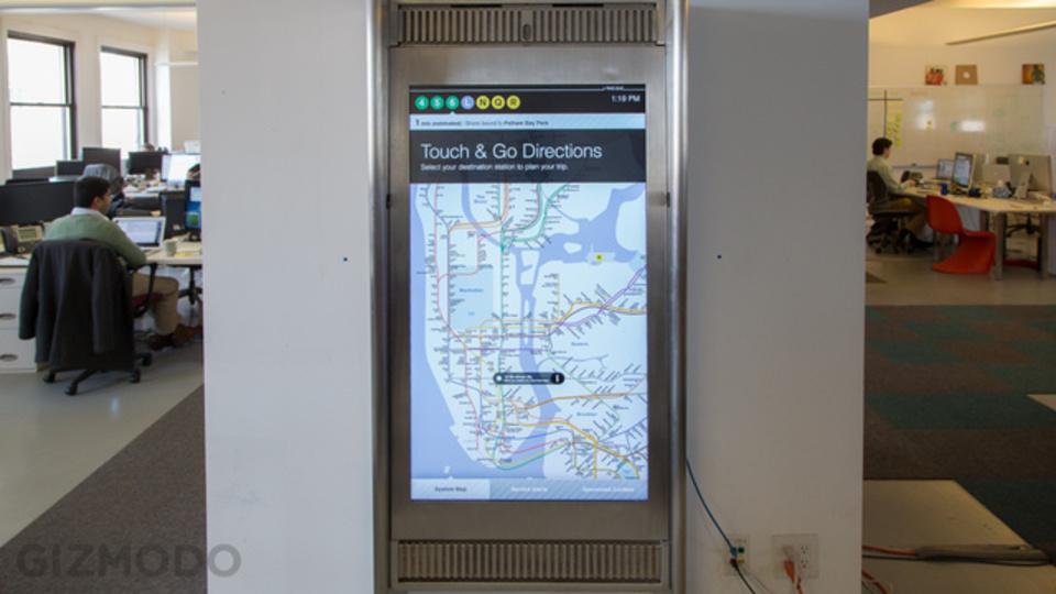 叩いても壊れない。NY地下鉄でタッチの路線図に触ってきたよ(動画)