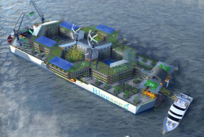 入居者募集中! 人工島みたいなインターナショナル船