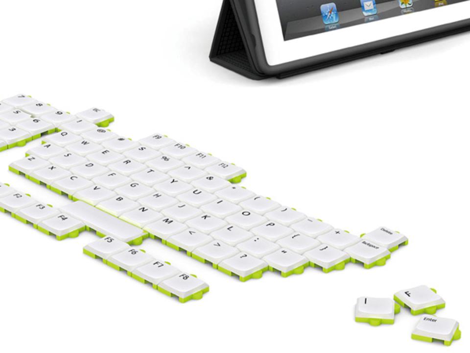 好みの形にアレンジできるPC用パズルキーボード