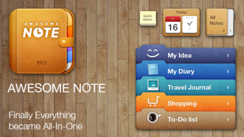 Evernoteとも連携! 「Awesome Note」は王道中の王道をいくスケジュール&メモアプリ