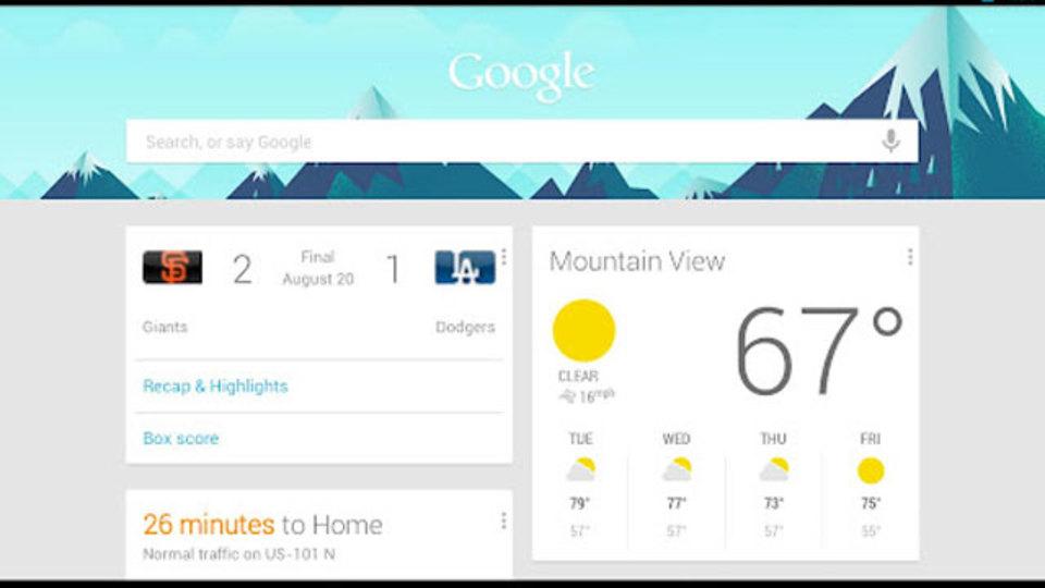 GoogleのホームページにGoogle Now機能搭載? 現在テスト中か