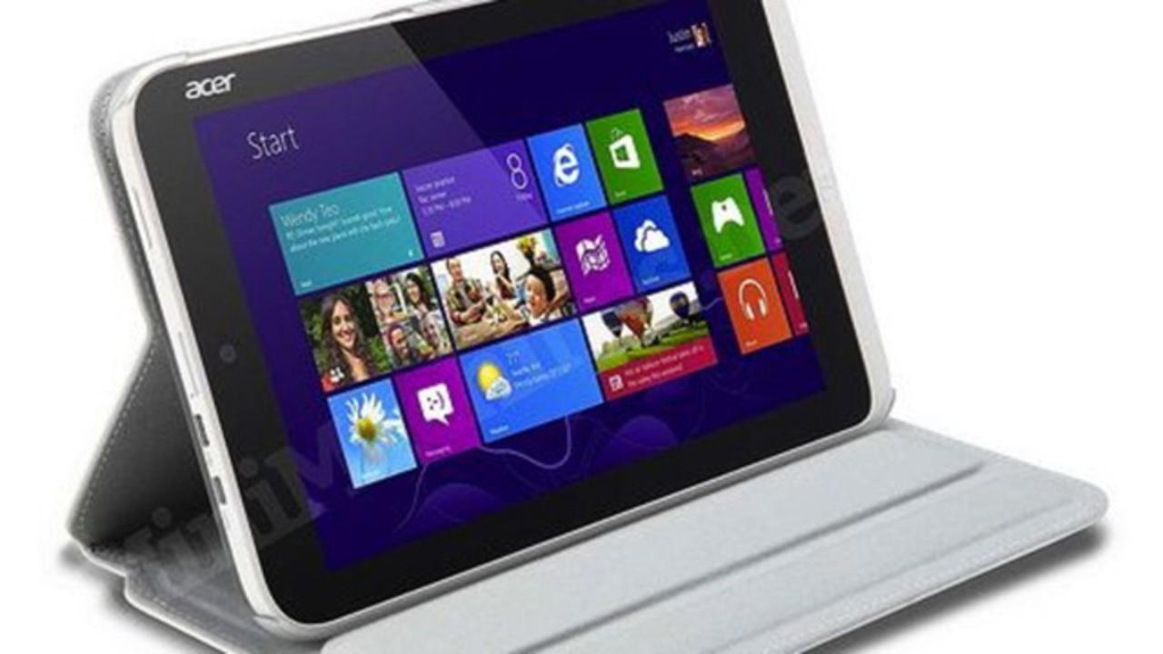 Windows 8に小さめタブレット登場? Acer「Iconia W3」の画像がリーク