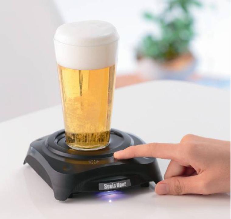 夏前に買っておくべきだ! 超音波でビールに泡を生み出す「ソニックアワー」