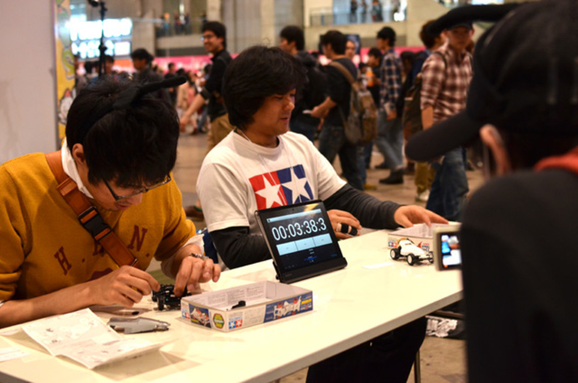 [ #chokaigi ]ユーザー企画ブースではミニ四駆ギャラリーや速組立バトルが開催。もちろんレースも!