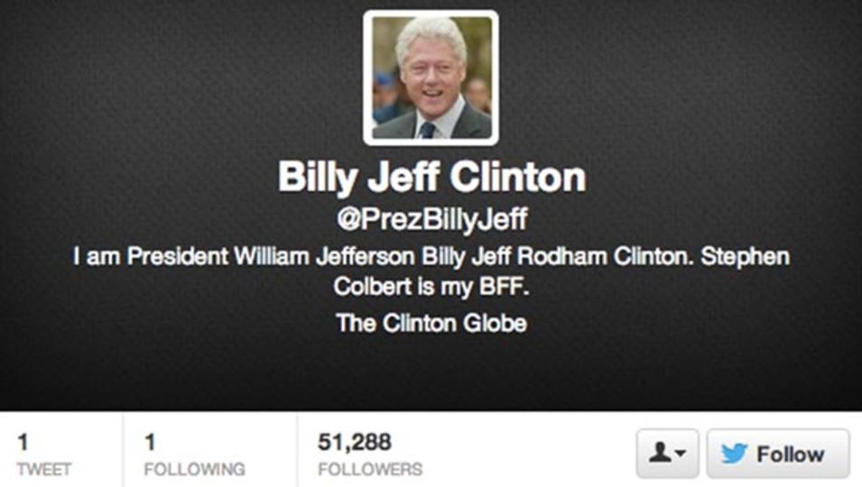 これが本当のビル・クリントン元大統領のTwitterアカウントだよ(動画あり)