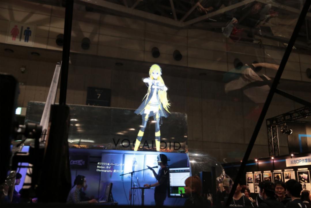 [ #chokaigi ]ボーカロイドを3D投影するプロジェクションシステム「SORIS VLS」が鮮明すぎて凄い!