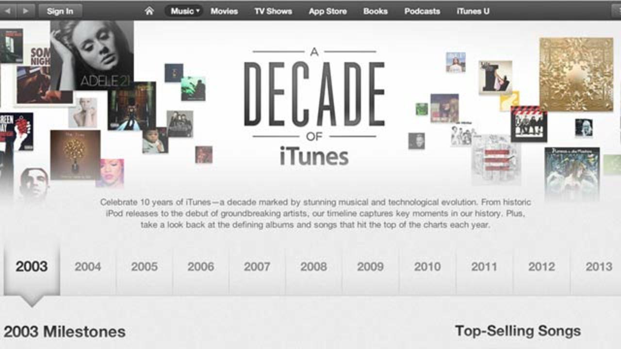 アップルのiTunes Store、サービス開始10周年!