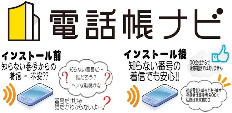 知らない番号の情報が共有されるので、勧誘電話もバッチリシャットアウト! Androidアプリ「電話帳ナビ」