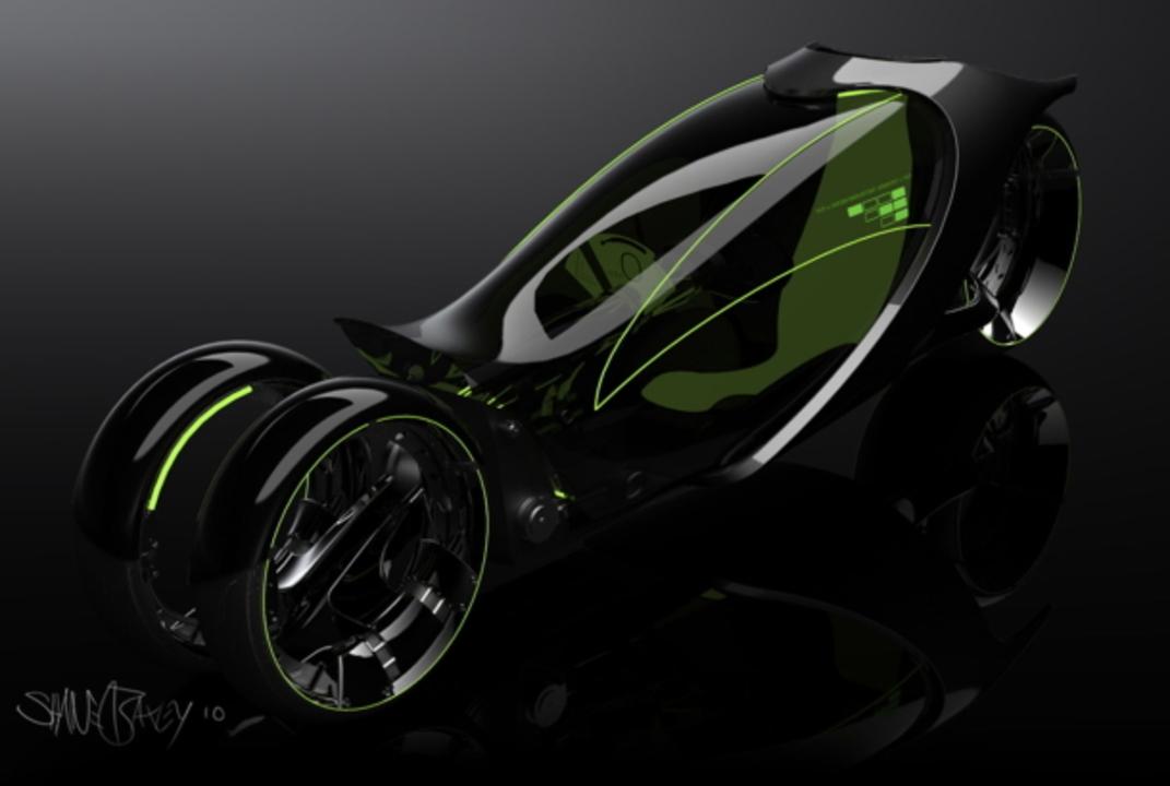 未来の三輪自動車がスタイリッシュすぎて唖然