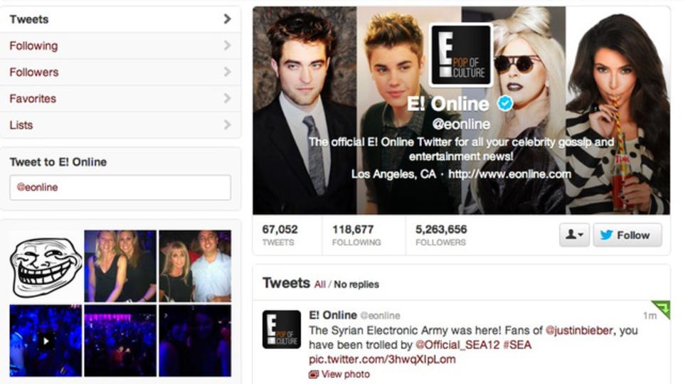 有名Twitterアカウントがまたまたハッキング被害、今度は米国TV局