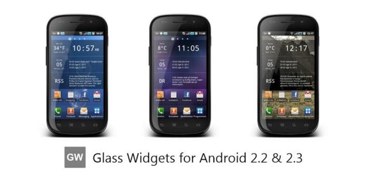 スケスケでクールなAndroidウィジェットアプリ「Glass Widgets」