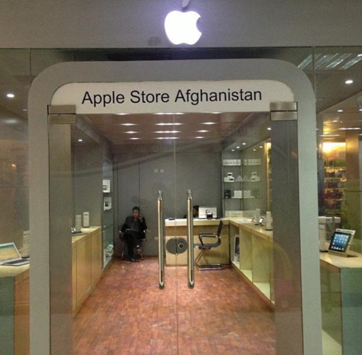 とうとうアフガニスタンにまで進出したアップルストアを覗いてきました...