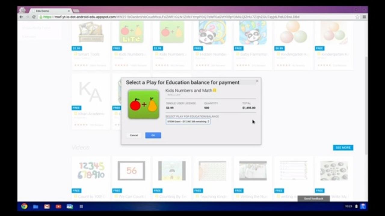 Google Playに教育用バージョン、今年秋から登場[ #io13 ]
