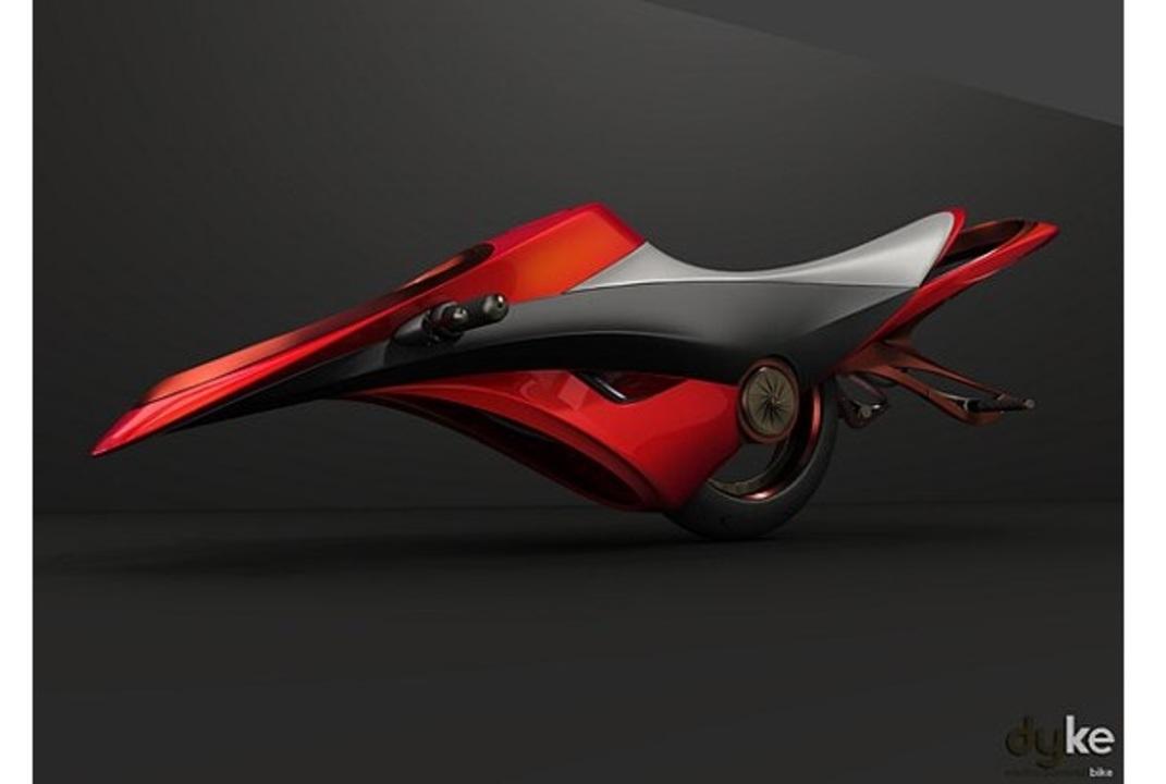 どうやって乗んのよ? ダイソンの羽のない扇風機にインスパイアされたバイクのデザインが斬新