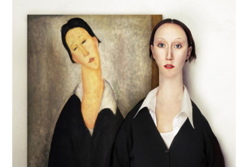 抽象的な人物画のモデルが、そのままの見た目で存在していたとしたら...?
