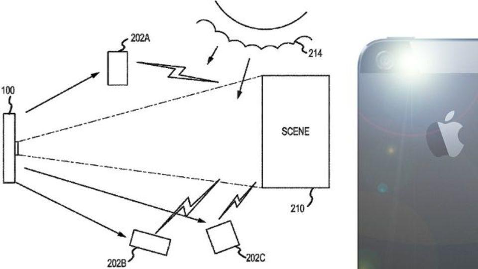 友達のiPhoneを、自分のカメラのフラッシュに。アップルの新特許