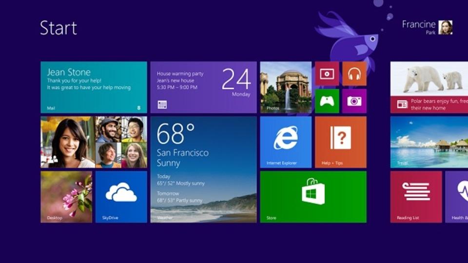 Windows 8.1がチラ見せ。Metroはそのままだけどスタートボタン復活