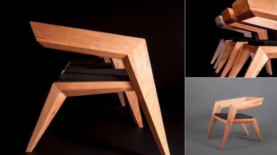 サーモンチェア、鮭でできた椅子