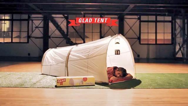 野外フェスを綺麗に! ゴミ袋でできたテント(動画あり)
