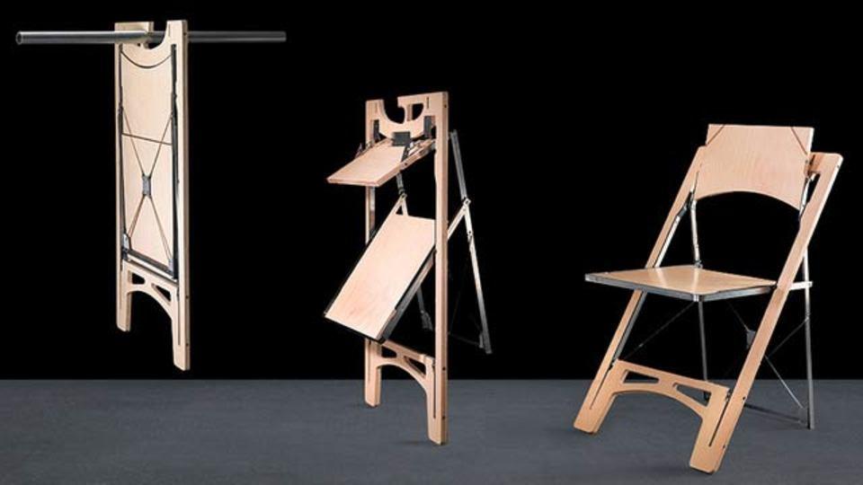 収納しやすい! 掛けて仕舞える折りたたみ椅子(動画あり)