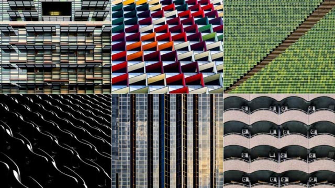 街に溢れる建築物が偶然おりなすカラフルな幾何学パターン(ギャラリーあり)