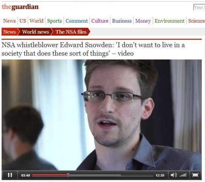 PRISM内部告発者が語った。英紙インタビュー全訳(動画)