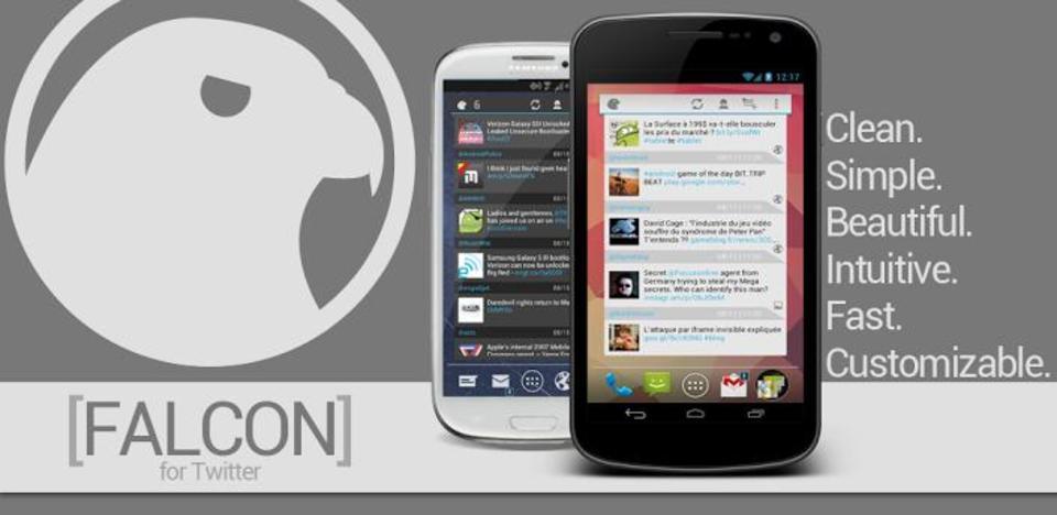 イケメンなTwitterウィジェットアプリ「Falcon Widget(for Twitter)」
