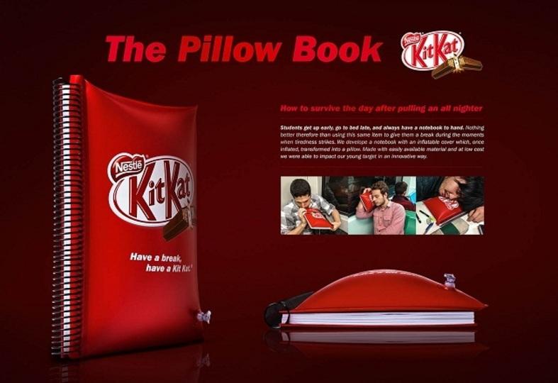 勉強中に眠るのってどうしてこんなに気持ちいいの...キットカットが枕ノートを開発
