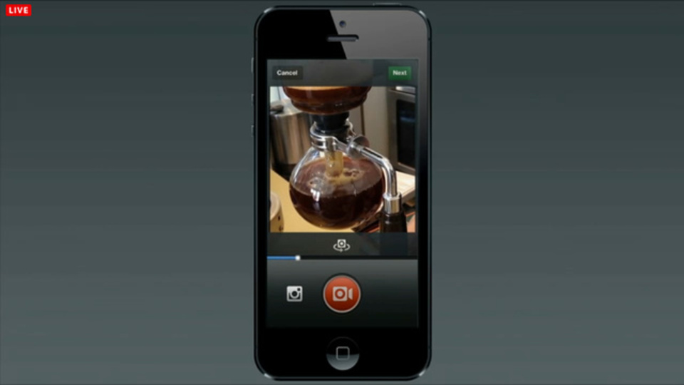 Video on Instagram:Vineとは一味違うミニ動画共有アプリ、Facebookが発表