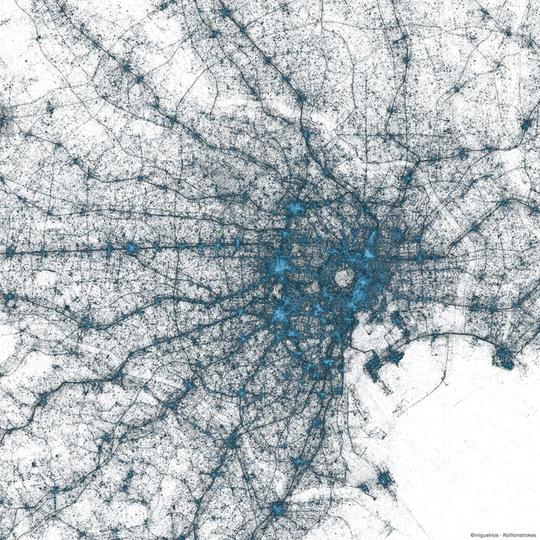 東京で一番ツイートが多い場所はどこ?