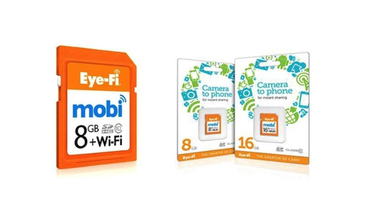 モバイル端末と手間なくペアリングして使える「Eye-Fi mobi」発売