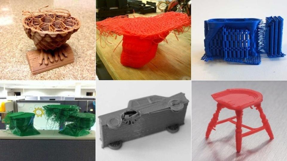驚愕! 3Dプリンターの失敗作品を一挙公開