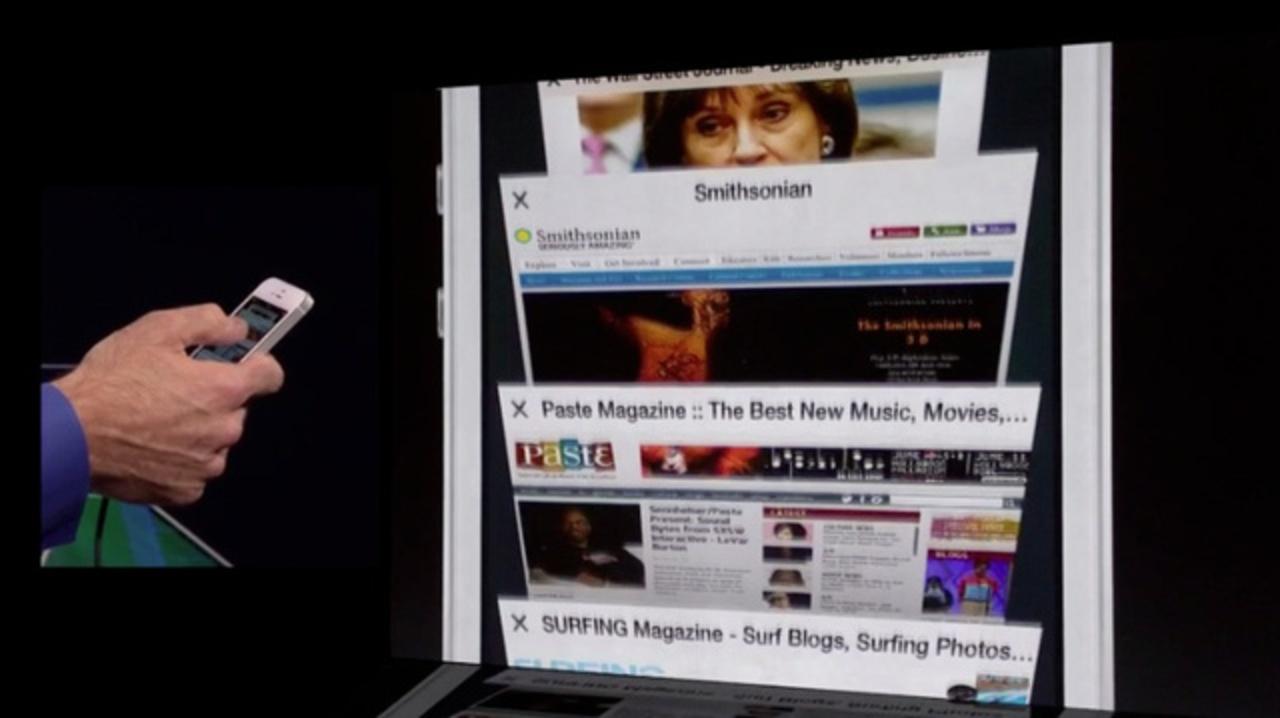[ #WWDC2013 ]新しいモバイル版Safariでは8個以上タブが作れますよ