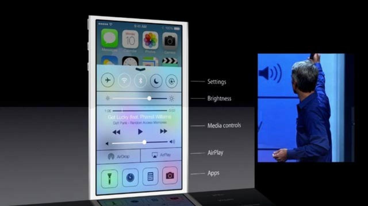 [ #WWDC2013 ]iOS 7「コントロールセンター」で基本操作が素早くできる