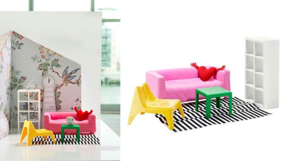 お人形さんのためのミニサイズIKEA家具