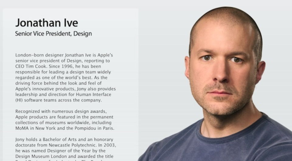 アップルのデザイン担当ジョニー・アイブの肩書きがよりフラットに