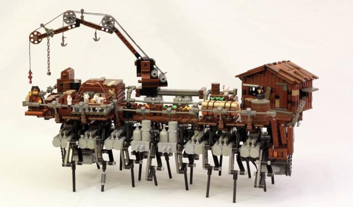 レゴでスチームパンクでメカニック! ハウルの城みたいな動くレゴ船(動画あり)