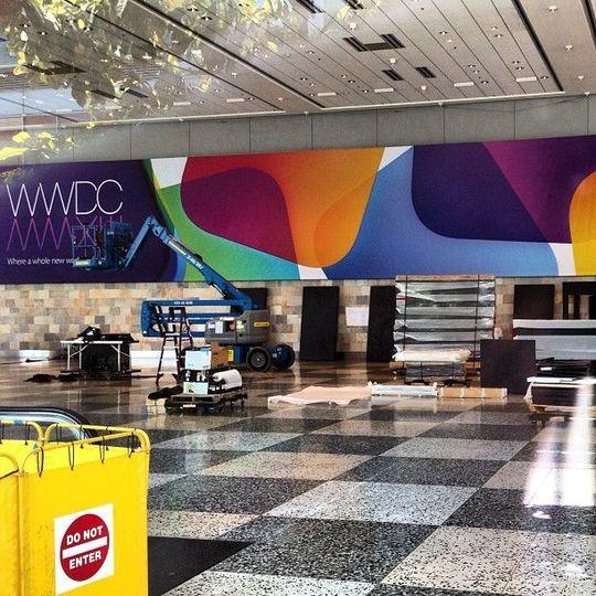 WWDC開催に向け会場の準備が始まったよ〜