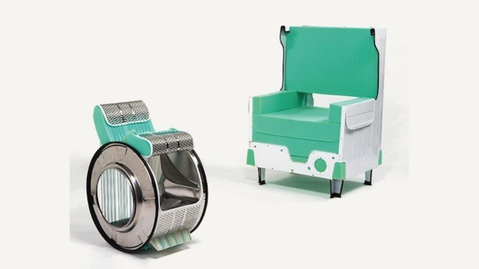 洗濯機から3脚の椅子が作れるらしい(動画あり)