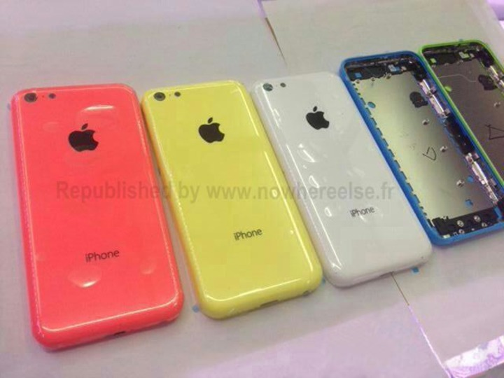 廉価版iPhoneのカラバリは「赤・黄・緑・白・青」の5色? 新たな画像が流出