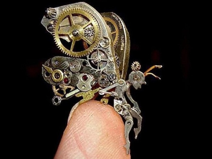 スチームパンク萌え...時計の部品から作られた幻想的な妖精たち(写真ギャラリーあり)