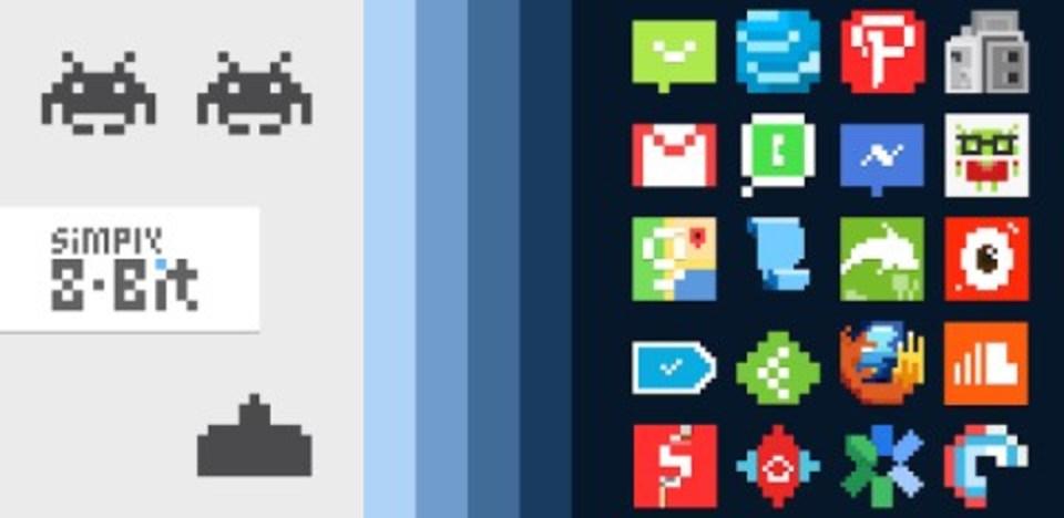 種類豊富なアプリアイコン集「Simply 8-Bit Icon Pack」でスマホのホーム画面を8ビット風に