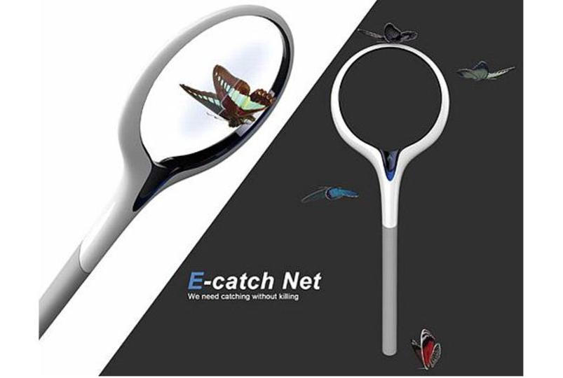 これからは捕らずにスキャン! 次世代虫取り網「E-catch Net」