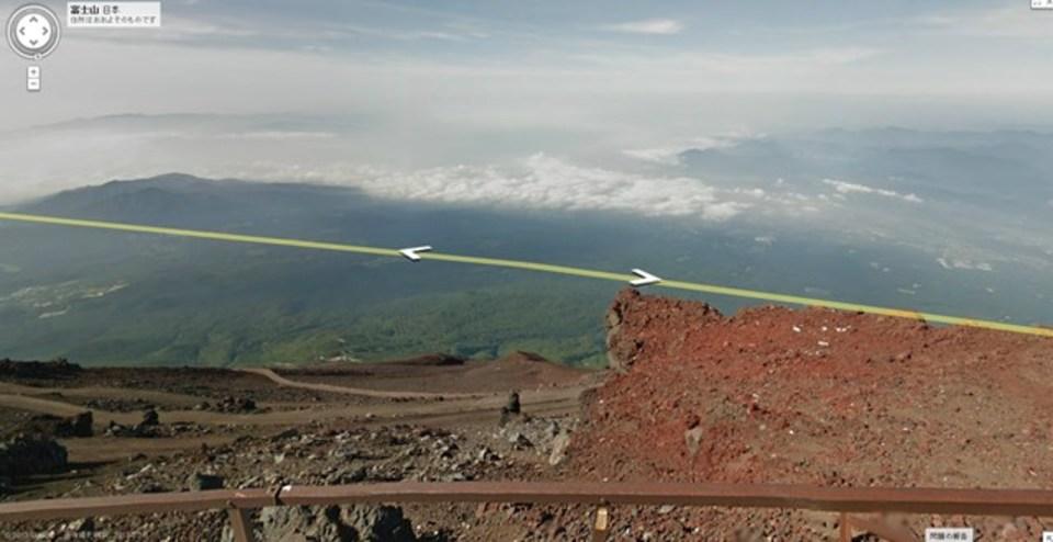 Googleストリートビューで富士山頂にアタックできるようになりました!
