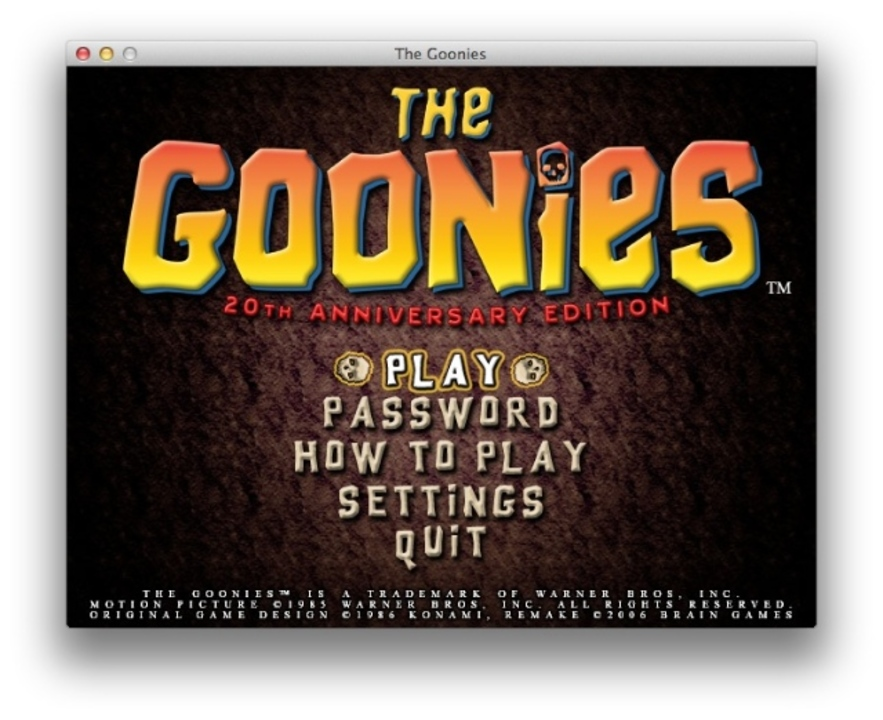 MSX版グーニーズのリメイク作が公開中! MacとWindowsとUbuntuでも遊べるよ