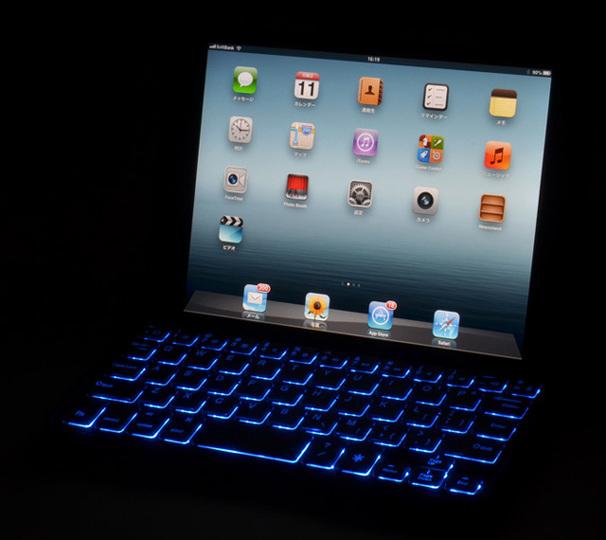 今年の下半期最強の「光モノ」はきっとこれ! 七色に光るiPad mini用Bluetoothキーボード