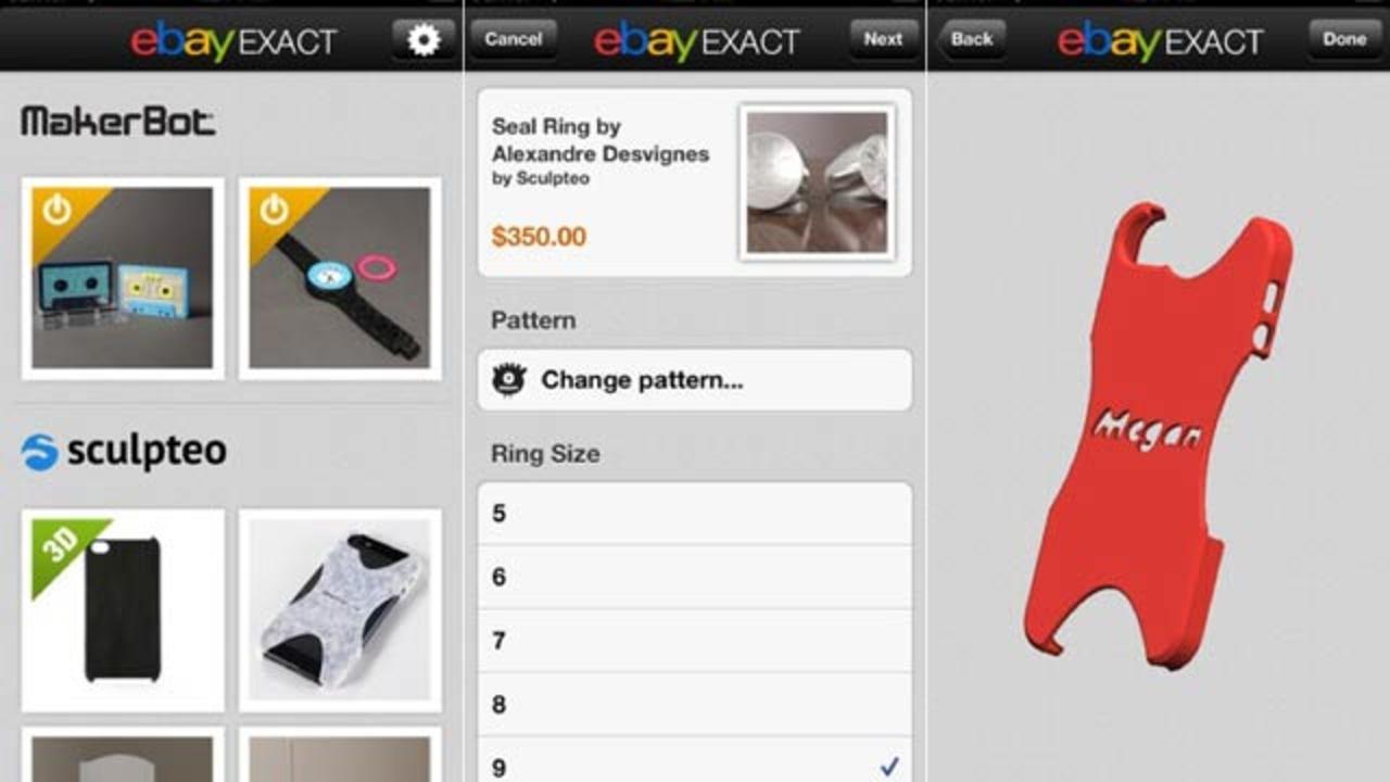 eBayが3Dプリンター制作アイテムをオーダーできるアプリを公開