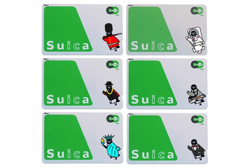 可愛すぎるやん...。suicaのペンギンを着せかえるステッカー